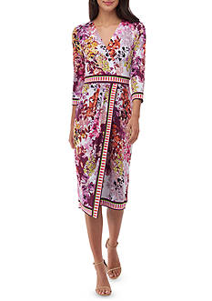 Beige by ECI Printed Wrap Dress