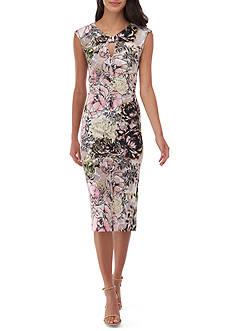 Beige by ECI Printed Cap Sleeve Dress