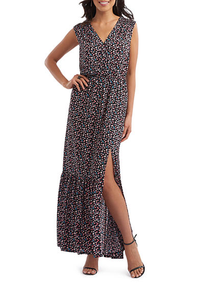 Beige by ECI Floral Printed Maxi Dress