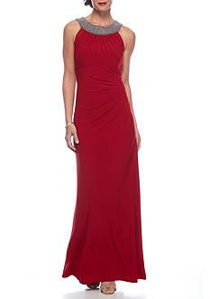 SCARLETT Bead Embellished Jersey Gown
