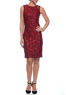 SCARLETT Lace and Sequin Sheath Dress