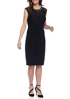 SCARLETT Lace Beaded Sheath Dress