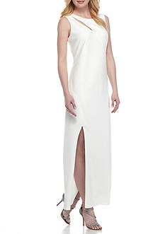 SCARLETT Cut Out Crepe Gown