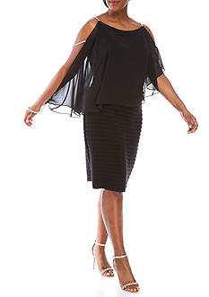SCARLETT Plus Size Cold Shoulder Rhinestone Dress