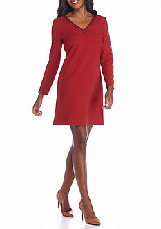 Donna Ricco New York Lace Trim Shift Dress