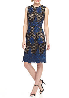 Donna Ricco New York Floral Lace Sheath Dress