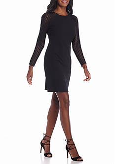 Donna Ricco New York Lace Trim Shift Dress
