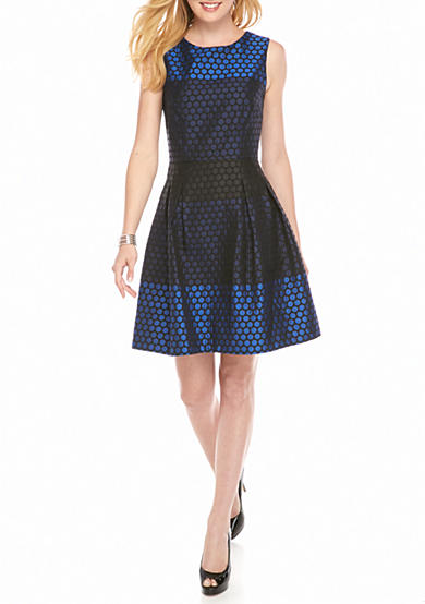 Donna Ricco New York Polka Dot Fit and Flare Dress