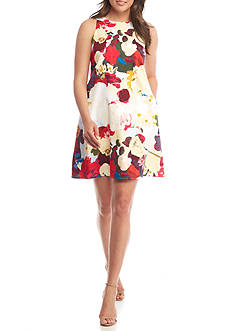 Donna Ricco New York Sleeveless Floral Swing Dress