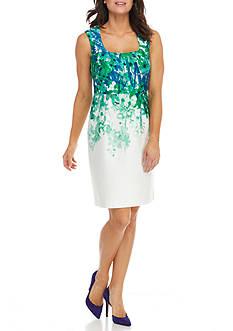 Donna Ricco New York Sleeveless Square Neck Dress