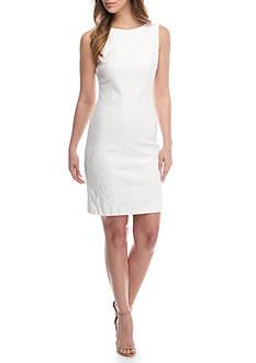Donna Ricco New York Printed Jacquard Sheath Dress