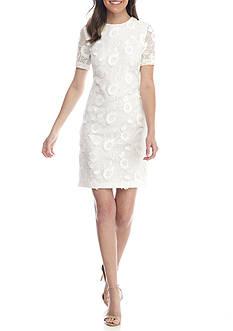 Donna Ricco New York Raise Flower Lace Sheath Dress