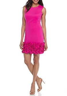 Donna Ricco New York Ruffle Hem Sheath Dress