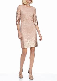 IVANKA TRUMP Ombre Lace Sheath Dress