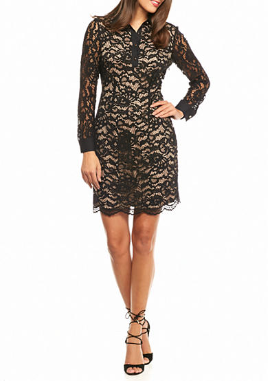 IVANKA TRUMP Lace Shirt Dress