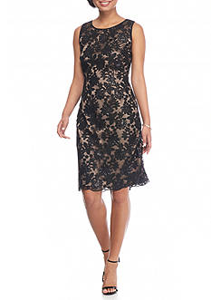IVANKA TRUMP Sequin Lace Sheath Dress