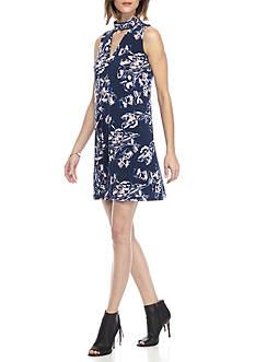 IVANKA TRUMP Floral Printed Jersey Dress