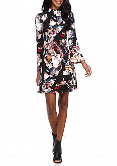 IVANKA TRUMP Floral Printed A-line Dress