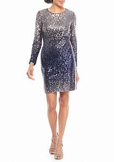 maia Ombre Sequin Sheath Dress