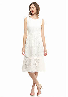 maia Lace Fit and Flare Dress