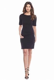 maia Elbow-Sleeve Sheath Dress