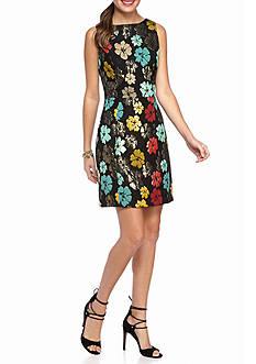 maia Floral Jacquard Sheath Dress