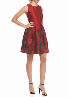 ALLEN B. BY ALLEN SCHWARTZ® Floral Jacquard Fit and Flare Dress