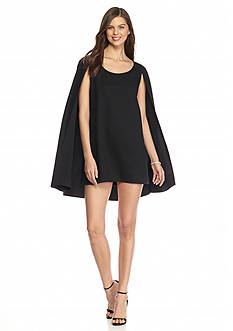 ALLEN B. BY ALLEN SCHWARTZ Sheath Dress with Elongated Capelet Overlay