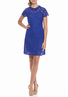 ALLEN B. BY ALLEN SCHWARTZ Peter Pan Collar Lace Dress