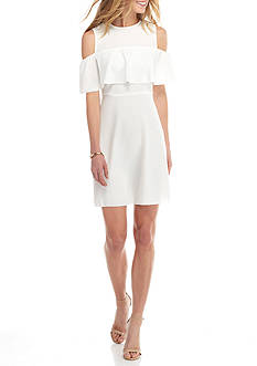 alison andrews™ Cold Shoulder A-line Dress