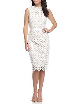 alison andrews™ Lace Midi Sheath Dress