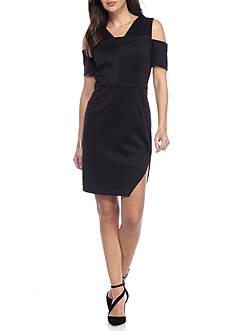 alison andrews™ Cold-Shoulder Bodycon Sheath Dress