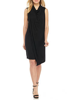 alison andrews™ Cowl-neck Jersey Shift Dress