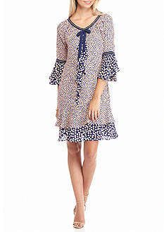 Nanette Nanette Lepore™ Confetti Printed Double Flounce Hem Dress