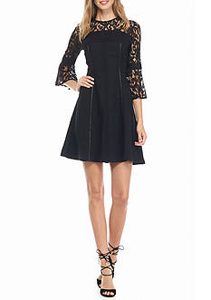 Nanette Nanette Lepore™ Lace Bell Sleeve Fit and Flare Dress