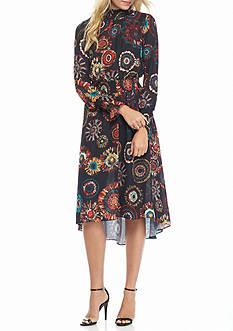 Nanette Nanette Lepore™ Printed Hi-Lo Hem Dress