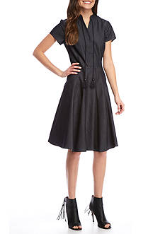 Nanette Nanette Lepore™ Denim Fit and Flare Dress