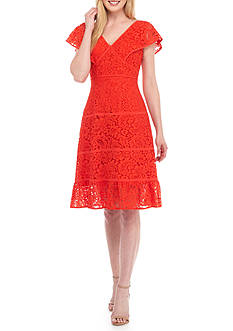 Nanette Nanette Lepore™ V-Neck Lace Sheath Dress