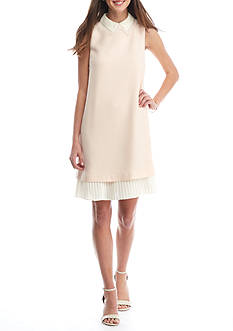 Nanette Nanette Lepore™ Sleeveless Lace Collar Shift Dress