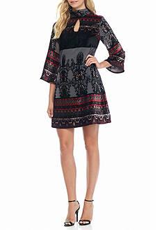 Nanette Nanette Lepore™ Printed Mock Neck Dress
