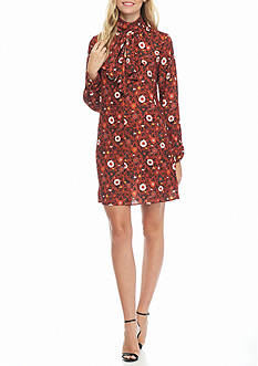 Nanette Nanette Lepore™ Floral Printed Ruffle Front Shift Dress