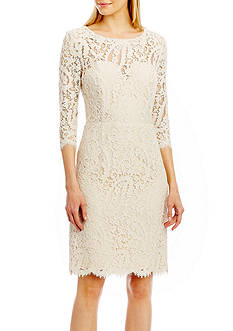 Nicole Miller New York Bow Back Lace Dress