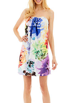 Nicole Miller New York Floral Short Strapless Dress