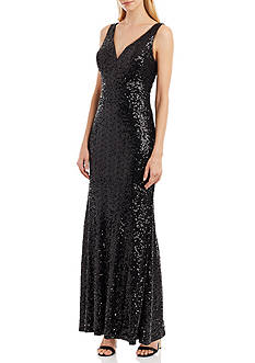 Nicole Miller New York Allover Sequin Gown