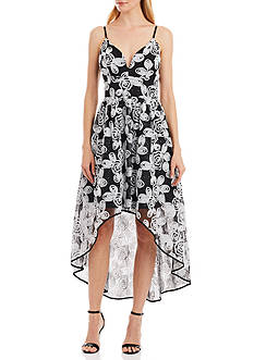 Nicole Miller New York Sleeveless High Low Gown