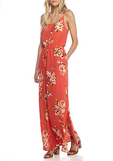 Bobeau Floral Printed Maxi Dress