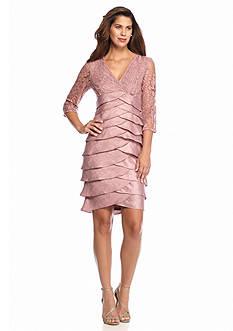 Adrianna Papell Tiered Empire-Waist Cocktail Dress