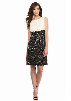 Adrianna Papell Colorblock Lace Dress