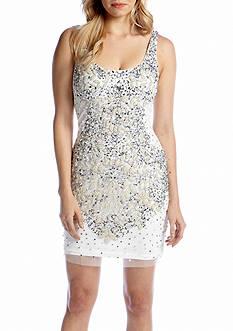 Adrianna Papell Sleeveless Bead and Sequin Shift Dress