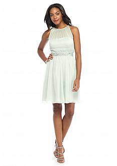 Adrianna Papell Chiffon Halter Dress